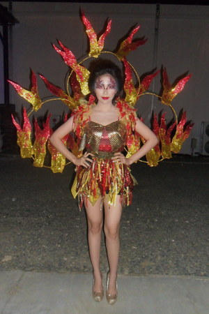 fire costume Peewee Senining dress