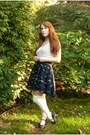 Ivory-modcloth-socks-navy-forever-21-skirt-ruby-red-belt