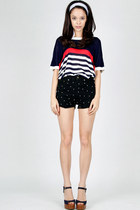 dazzling stars DIDD shorts - knitted DIDD jumper - Charles & Keith heels
