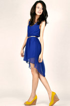 golden flight DIDD dress - gold DIDD belt