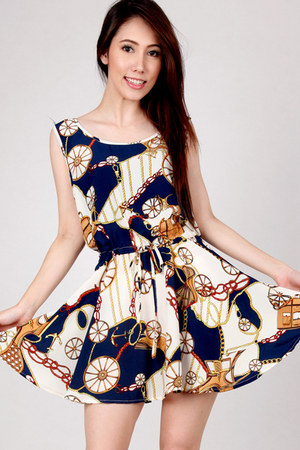 printed silk DIDD dress