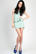 mint DIDD dress - DIDD necklace - DIDD heels