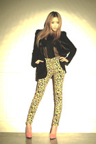 preen jacket - leopard Dark Victory pants - general pants top