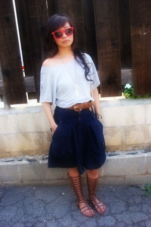 Marciano top - Diesel skirt - UrbanOG shoes - Forever21 belt