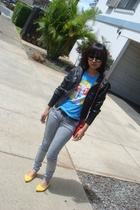 forever 21 jacket - Urban Outfitters t-shirt - Lux pants - shoes