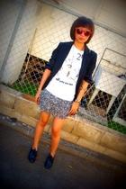 banana republic blazer - Urban Outfitters t-shirt - forever 21 skirt - Target sh