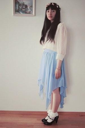 light blue GINA TRICOT skirt