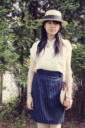 hat - skirt - blouse