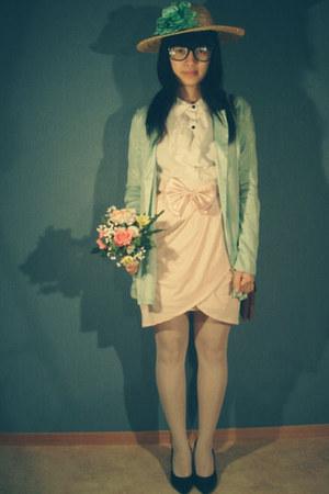 ginatricot blazer - ginatricot skirt - hm blouse