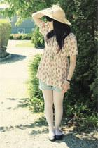 hm hat - bikbok shorts - hm top