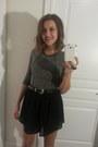 H-m-dress-thrifted-vintage-shorts-vintage-belt