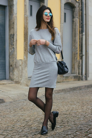 heather gray Zara dress