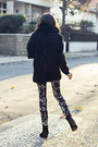 Black-wool-vintage-coat-zara-leggings
