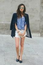 off white Zara shorts