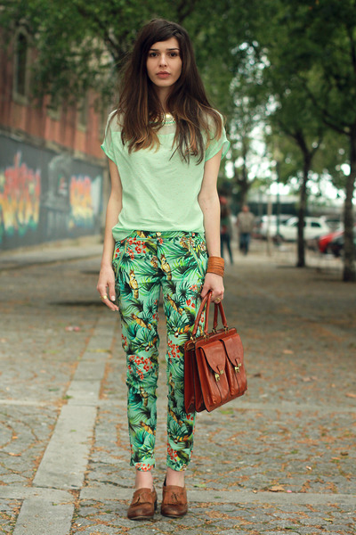 vintage bag - Zara pants - Topshop loafers - H&amp;M necklace