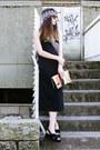 Black-zara-dress-white-h-m-shirt-coral-maria-maleta-designed-by-me-bag