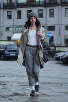 Fairly jacket - Mango coat - asos loafers - Zara pants