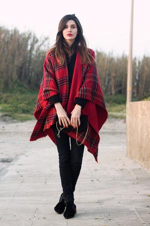 red Zara cape