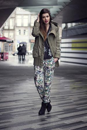 Zara blouse - Topshop boots - Parfois bag
