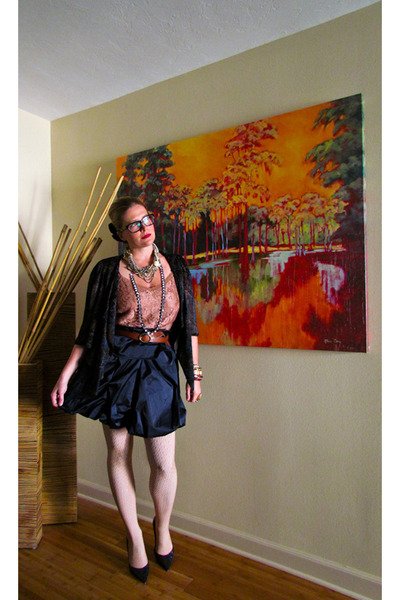 burnout kimono Topshop jacket - American Apparel tights - Forever 21 necklace -