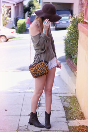 leopard vintage purse - Cheap Monday blouse