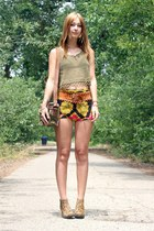 Jeffrey Campbell boots - vintage bag - vintage shorts - vintage top
