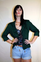 vintage jacket - vintage shorts - vintage accessories