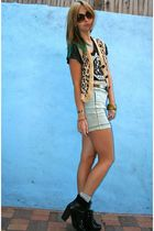 vintage vest - Kill City top - UO skirt