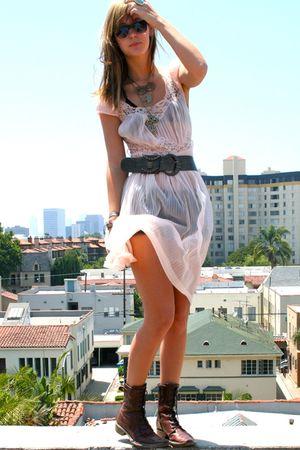 vintage dress - vintage accessories - aa bra - aa shorts