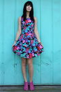 Vintage-dress-jeffrey-campbell-shoes