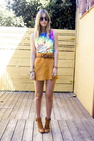 pendulum ring unearthen accessories - diy vintage shirt - vintage skirt