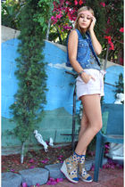 vintage calvin klein vest - downtown LA fashion district shoes - Anthropologie s
