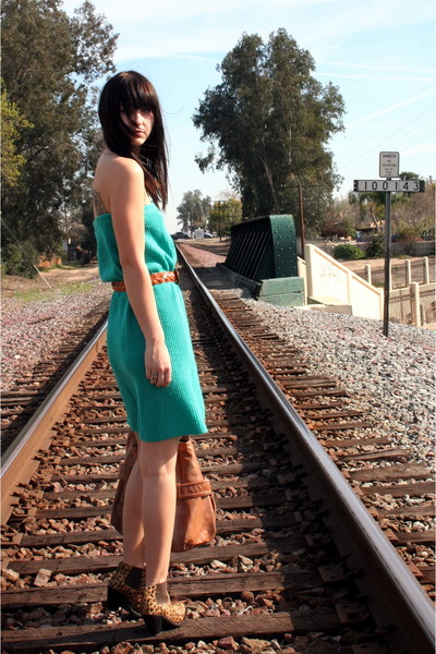 vintage dress - Jeffrey Campbell boots - vintage from Search & Destroy purse