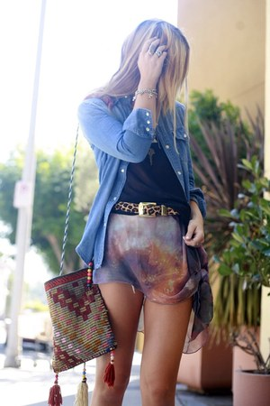 vintage bag - brit Jeffrey Campbell boots - sheer galaxy Romwecom dress