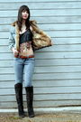 Vintage-jacket-hand-made-top-chinese-laundry-boots-forever-21-jeans