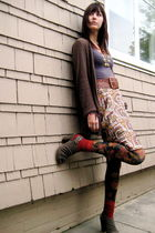 vintage skirt - Anthropologie tights - American Apparel socks - deena and ozzy s