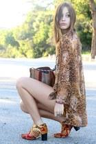 fabric DIY boots - crushed velvet vintage shorts - sheer vintage blouse