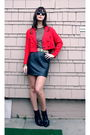 Red-vintage-blazer-black-vintage-skirt-black-nine-west-shoes-black-top-v