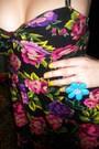 Black-forever21-dress-blue-forever21-accessories