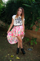 bubble gum fish tail thrifted vintage skirt - black Jeffrey Campbell shoes