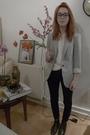 Black-topshop-jeans-silver-zara-blazer-white-vintage-blouse-black-vintage-