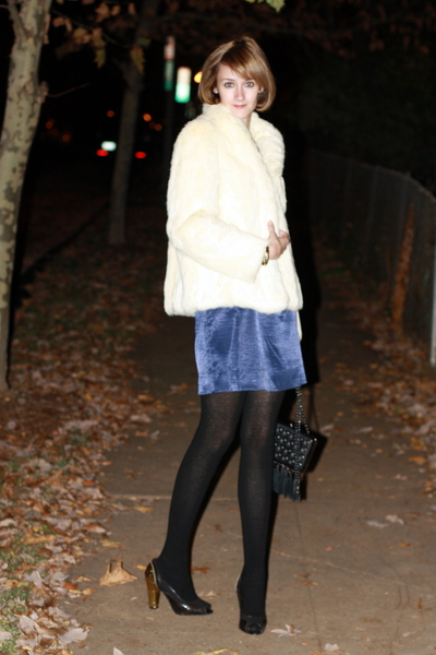 vintage coat - jonathan saunders for target dress - H&M tights - PROENZA SCHOULE
