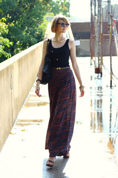 black studded bag KMRii bag - brown two-tone Illevesta sunglasses