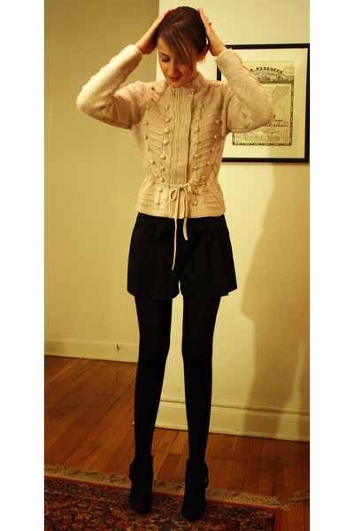 H&M shorts - Forever21 shorts - H&M tights - Zara boots