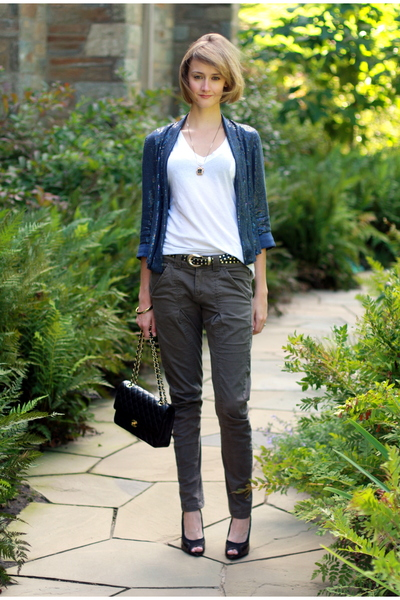 Topshop blazer - Target t-shirt - Mango pants - PROENZA SCHOULER shoes - vintage