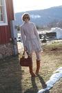 Pink-h-m-sweater-brown-ray-ban-sunglasses-white-gap-jacket-white-american-