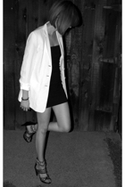 white linen ann taylor blazer - black Jeffrey Campbell shoes