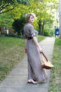 Gold-flats-zara-sandals-tan-shirtdress-maxi-trovata-dress