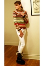 Relais sweater - Urban Outfitters belt - Mango jeans - Technica boots