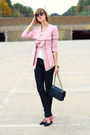 Black-snakeskin-h-m-jeans-light-pink-ruffled-romwe-blazer